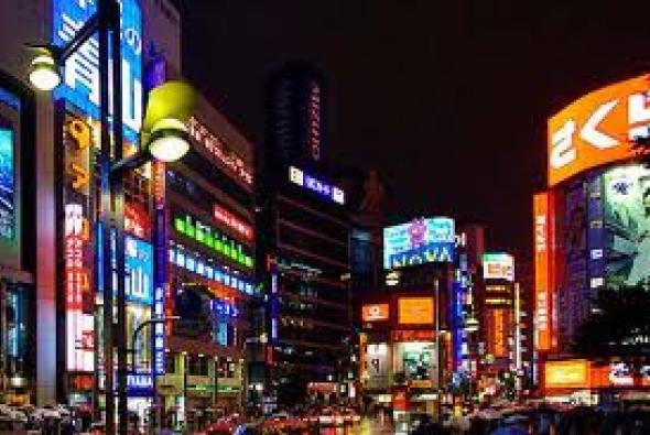 рекламные вывески в Токио