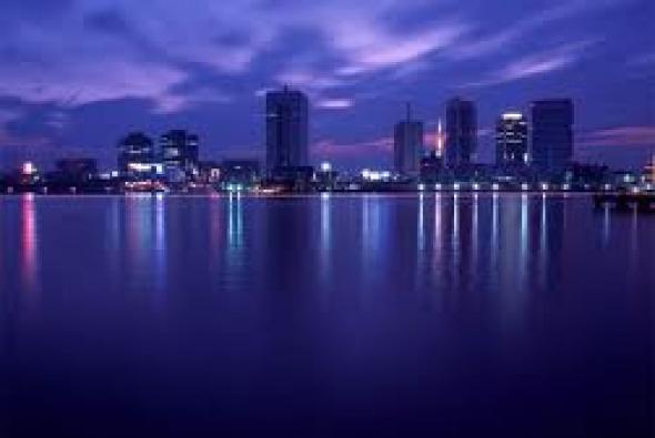 Токио ночью с воды