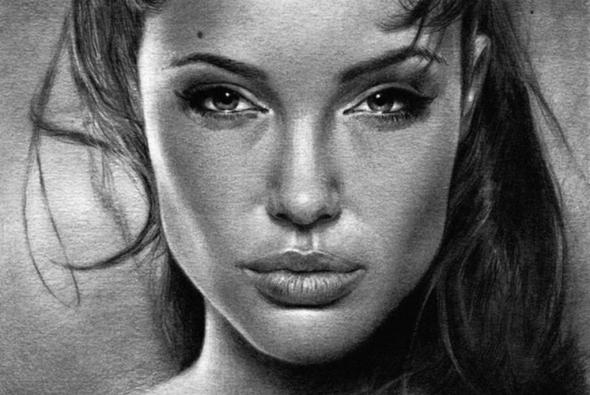 рисунок карандашом актриса