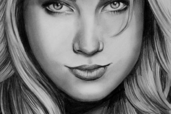 рисунок карандашом девушка