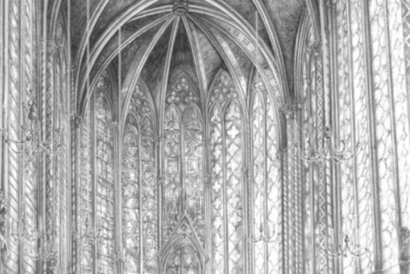 рисунок карандашом собор