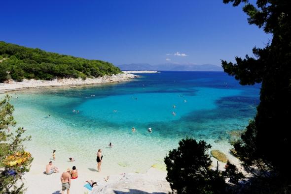 красивый пляжный пейзаж