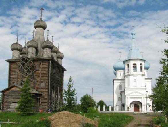 Храм Сретения Господня в с. Заостровье