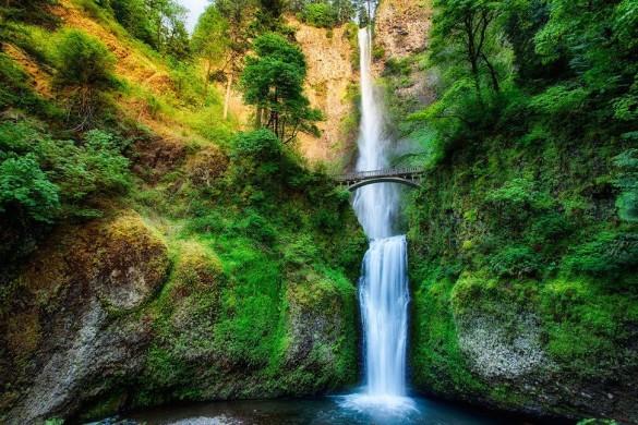 Водопад Малтнома, Орегон, США